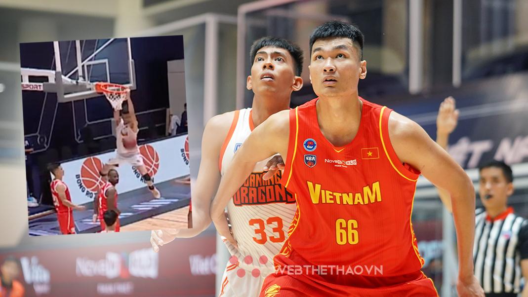 Xem ngay: Trung phong 2 mét Nguyễn Huỳnh Phú Vinh úp rổ đẹp mắt trước Danang Dragons