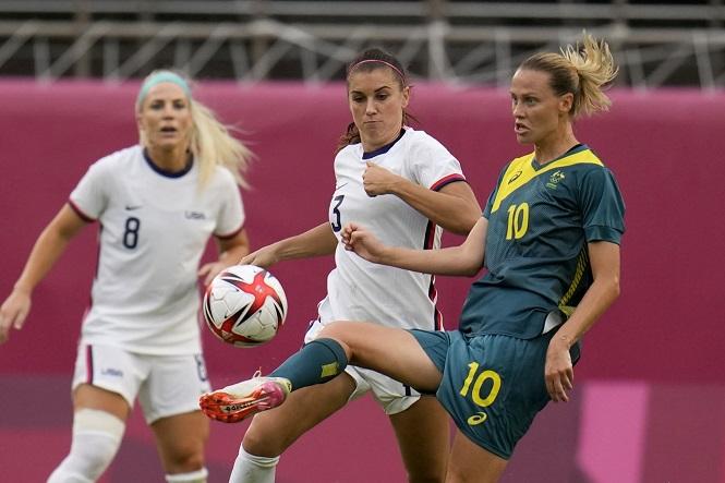 Tuyển Mỹ gây thất vọng khi lọt vào tứ kết bóng đá nữ Olympic 2021