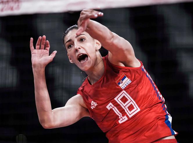 Hạ ứng viên vô địch, Serbia vào bán kết bóng chuyền nữ Olympic Tokyo