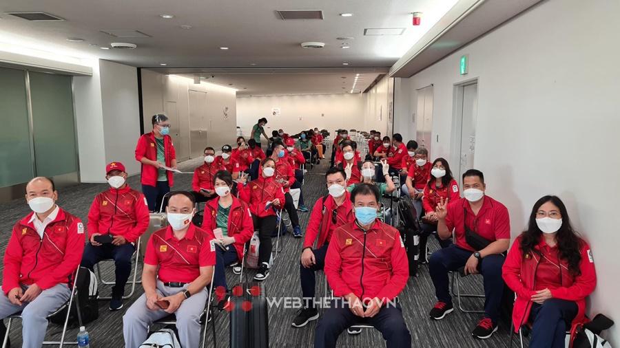 Những hình ảnh đầu tiên tại Nhật Bản của đoàn thể thao Việt Nam dự Olympic 2021