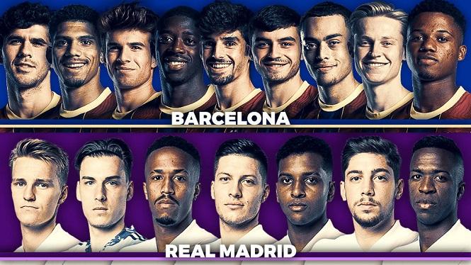 Barca và Real tạo nên trận Siêu kinh điển trẻ nhất từng thấy