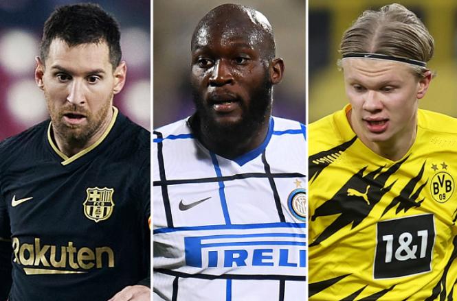 Messi và Haaland trong danh sách rút gọn 5 tiền đạo của Man City