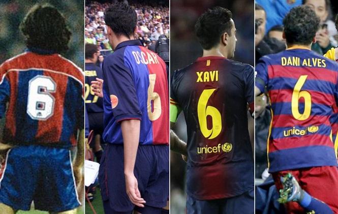 6 số áo huyền thoại đang tìm chủ nhân tại Barca