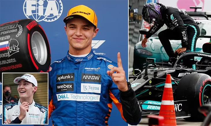 Kết quả F1 Grand Prix Nga: Tông xe vào tường, Lewis Hamilton bị xóa 1 kỷ lục
