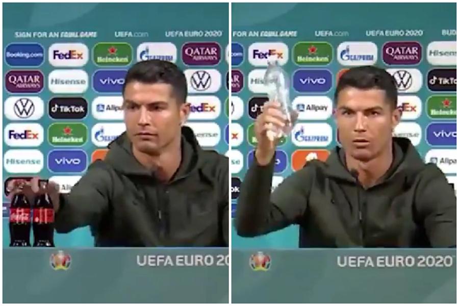 Hành động Cristiano Ronaldo đẩy chai Coca qua lăng kính của chuyên gia Marketing
