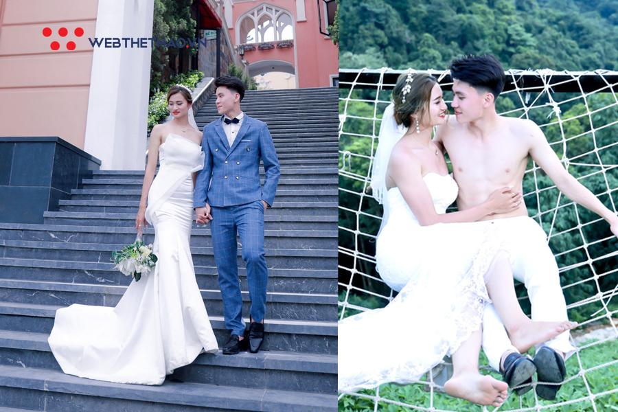 """Bỏng mắt với ảnh cưới của hoa khôi điền kinh Nguyễn Thị Oanh và """"hot boy karate"""" hát hay, nấu ăn giỏi"""