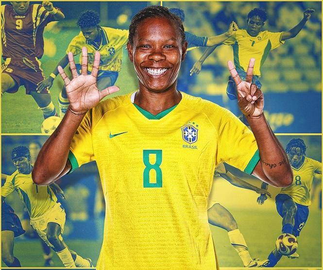 """""""Lão bà"""" Formiga của nữ Brazil tạo kỳ tích chưa từng thấy tại Olympic"""