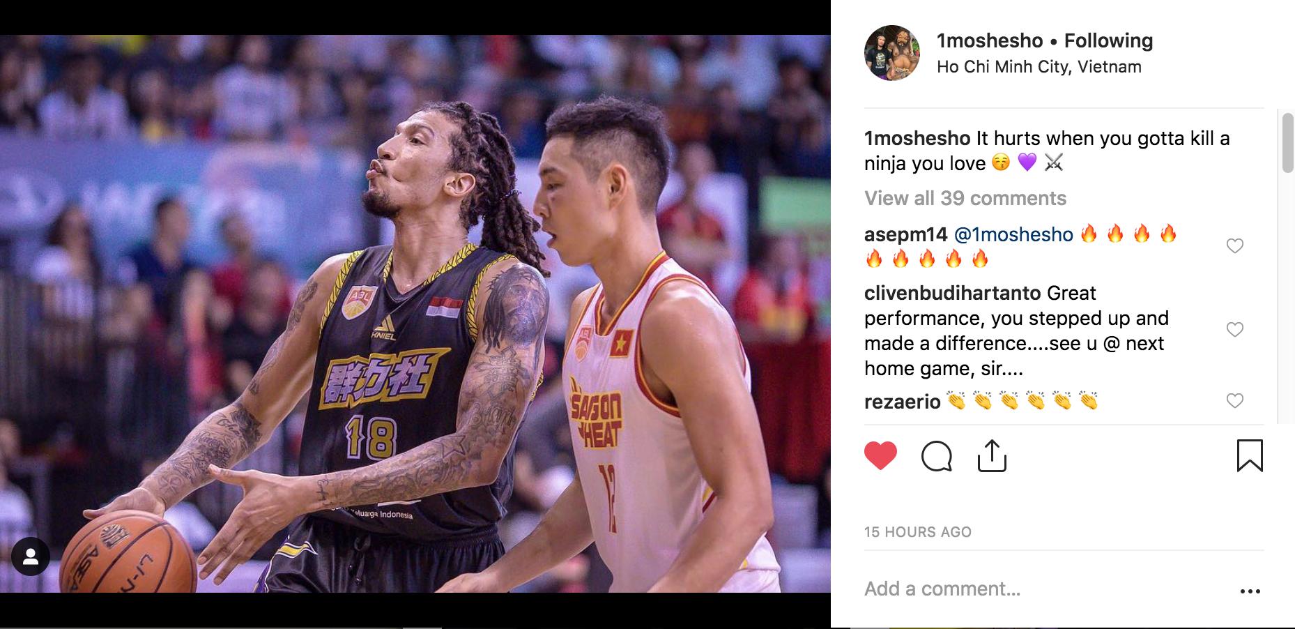 Maxie Esho: Tôi rất yêu Việt Nam, vì vậy thật đắng lòng khi phải đánh bại Saigon Heat