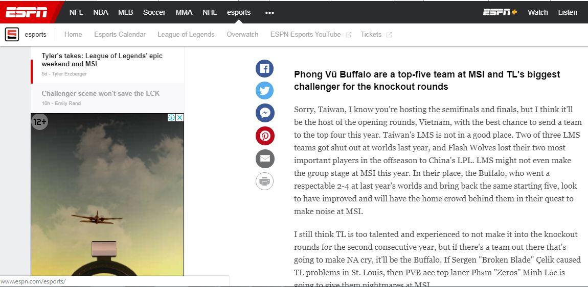 Phong Vũ Buffalo đang được đặt rất nhiều kỳ vọng tại kỳ MSI 2019!