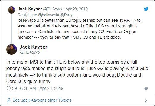 Nhà phân tích của Team Liquid: Chúng tôi có làn đường dưới tốt nhất hoặc thứ hai tại MSI 2019