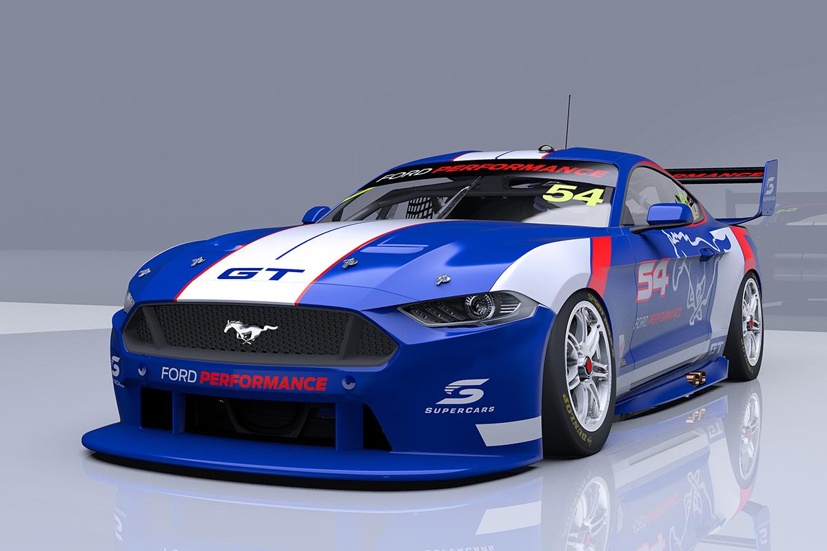 """Ford ra mắt xe """"cơ bắp"""" Mustang mới cho giải đua V8 Supercar tại Úc"""