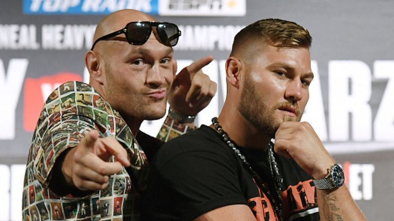 TRỰC TIẾP Quyền Anh: Tyson Fury vs Tom Schwarz