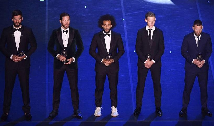 Ronaldo làm gì khi Messi nhận giải FIFA The Best 2019?