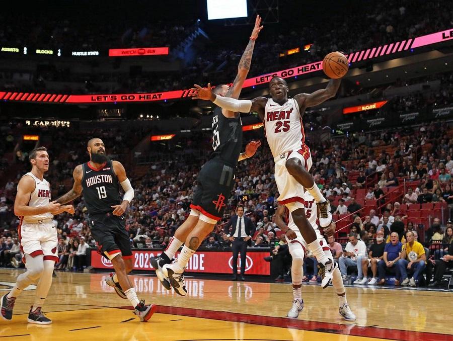 Măng non của Miami Heat tỏa sáng vẫn không qua được thần Râu James Harden