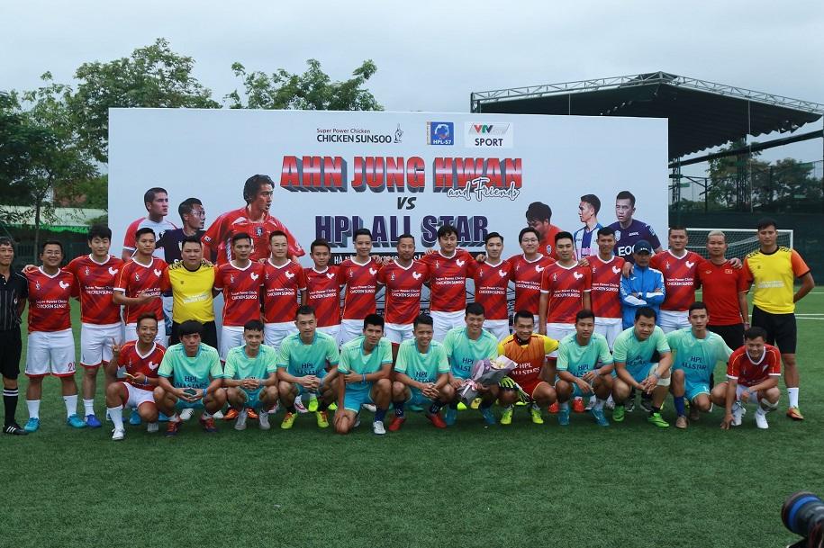 Ahn Jung Hwan và dàn sao HPL ghi cơn mưa bàn thắng ở trận đấu thiện nguyện