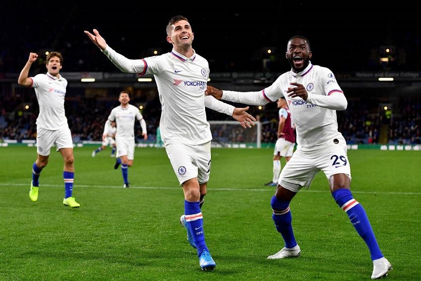 Pulisic nhận điểm gần tuyệt đối trong trận Chelsea thắng Burnley