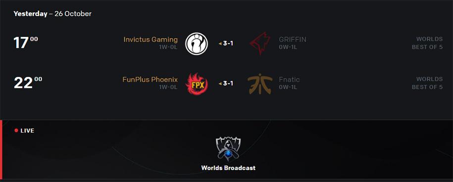 Kết quả CKTG 2019 ngày 26/10: IG đi tiếp, Fnatic rời cuộc chơi