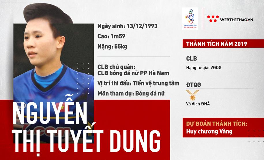 Nguyễn Thị Tuyết Dung – Linh hồn cho mục tiêu săn Vàng của ĐT nữ Việt Nam