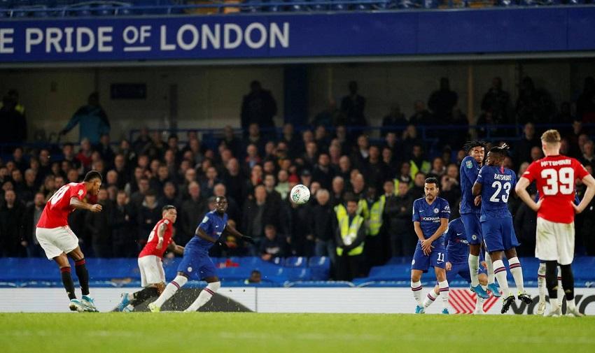 Rashford giải thích bàn thắng đá phạt cho MU trước Chelsea