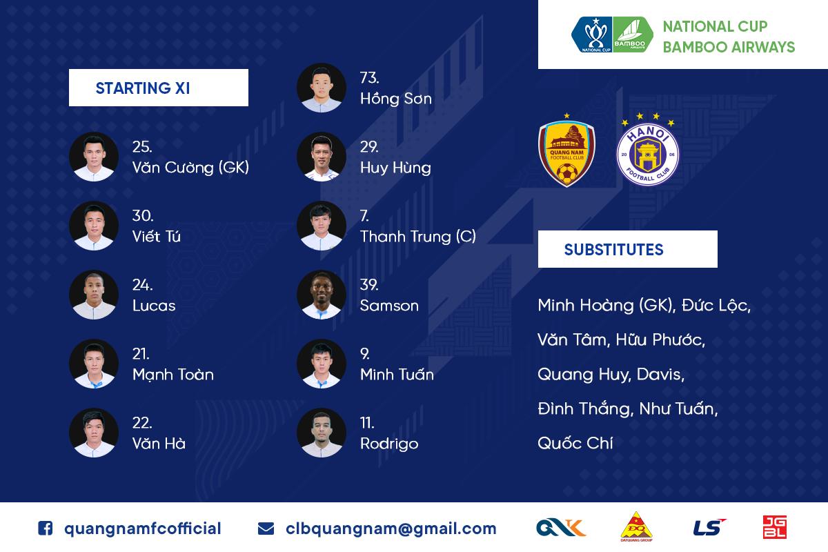 KẾT QUẢ Quảng Nam vs Hà Nội FC (FT: 1-2): Ngược dòng ấn tượng, Hà Nội lần đầu vô địch Cúp Quốc gia