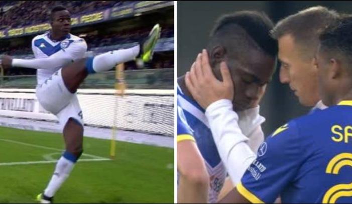 Balotelli phản ứng dữ dội khi bị phân biệt chủng tộc tại Serie A