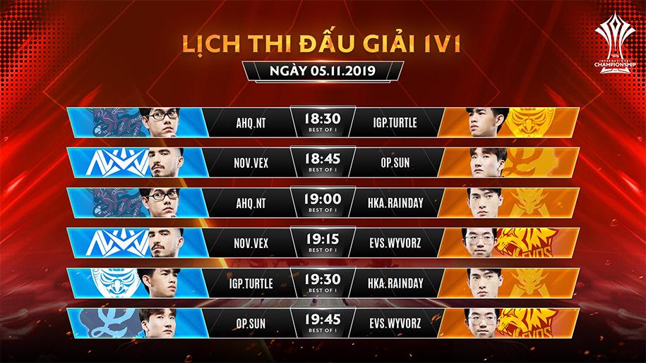 Lịch thi đấu AIC Liên Quân 2019 hôm nay 5/11: IGP ra quân vòng bảng