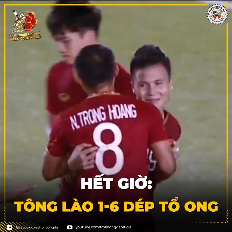 Ảnh chế U22 Việt Nam - U22 Lào: Dép tổ ong chiến thắng, tài năng trẻ Trọng Hoàng