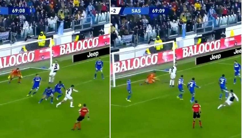 """Ronaldo bị """"troll"""" là tốt hơn Van Dijk sau khi cản bàn thắng của Juventus"""
