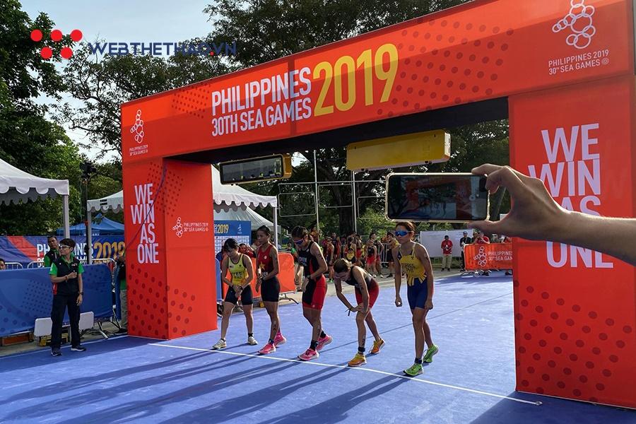 Xếp hạng tư duathlon hỗn hợp tiếp sức, đoàn Việt Nam kết thúc lần đầu dự SEA Games