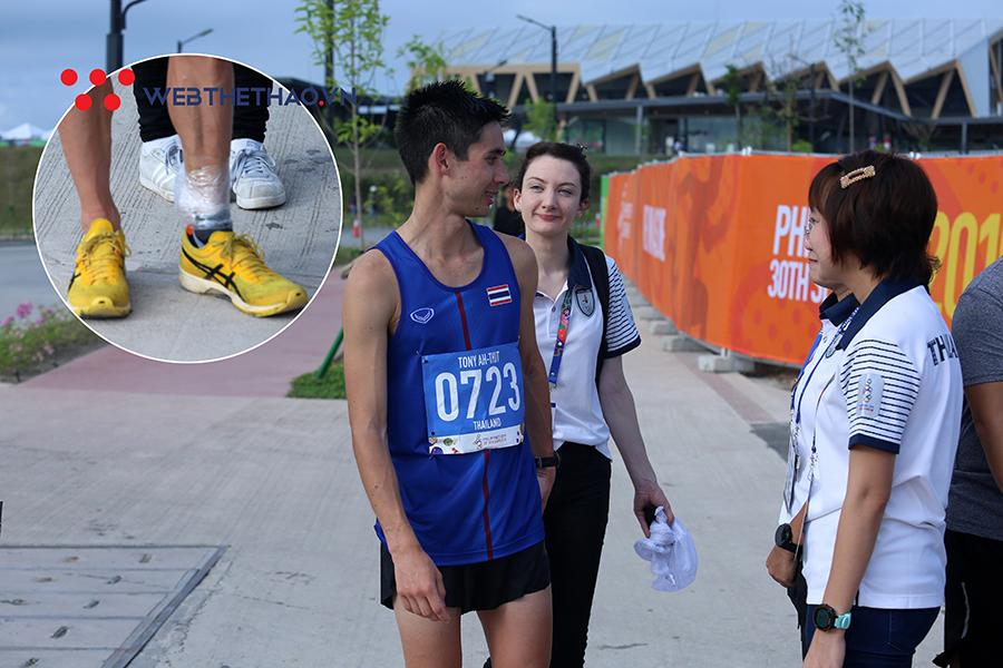 """""""Sao Tây nhập tịch"""" vỡ mộng đoạt HCV marathon SEA Games 30 cho Thái Lan vì chấn thương nặng"""