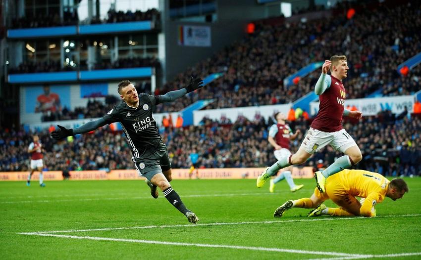 Vardy cân bằng kỷ lục ghi bàn của huyền thoại MU với Leicester