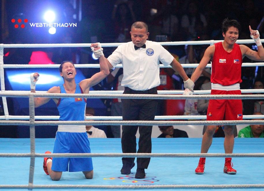 """Ấn tượng với khoảnh khắc """"boxer"""" Nguyễn Thị Tâm lần đầu giành HCV SEA Games"""