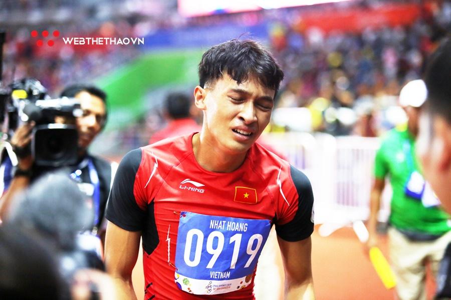"""""""Măng non"""" của Quách Công Lịch giành HCV 400m đầy cảm xúc ngay lần đầu dự SEA Games"""