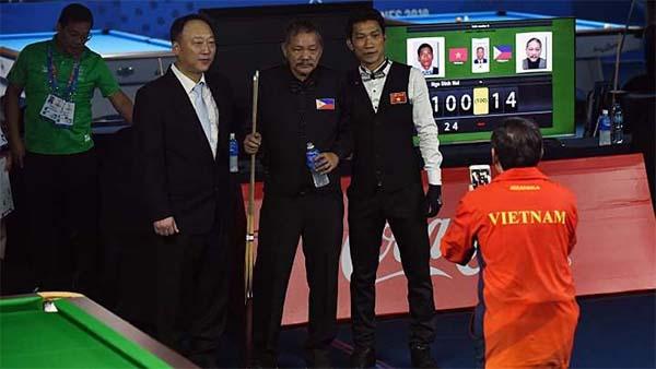 Billiards SEA Games: Bức ảnh khiến phù thủy Reyes cùng Philippines cảm thấy hạnh phúc!