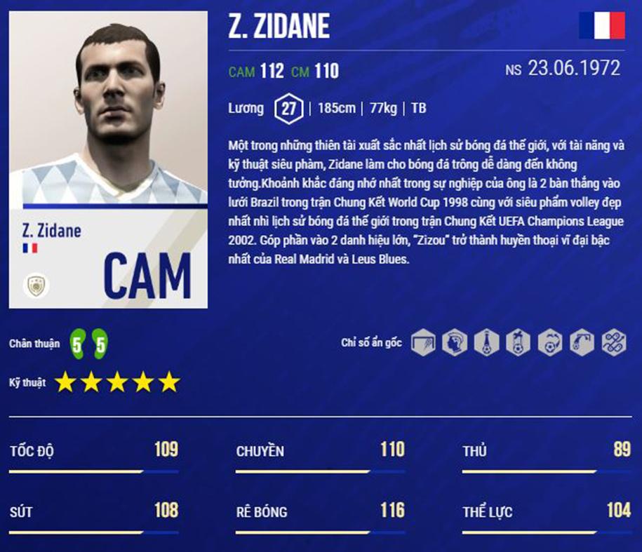 Huyền thoại Zidane thể hiện được gì sau khi ra mắt trong FO4?