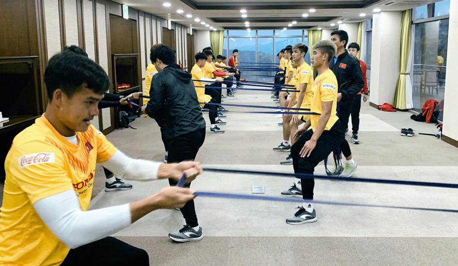 Quang Hải đã hồi phục, U23 Việt Nam tập nhẹ chuẩn bị đấu Busan Trasportation