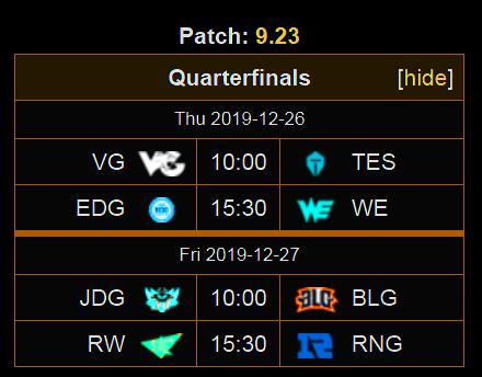 Lịch thi đấu Demacia Cup 2019 vòng knock-out: RNG sẽ thể hiện thế nào?