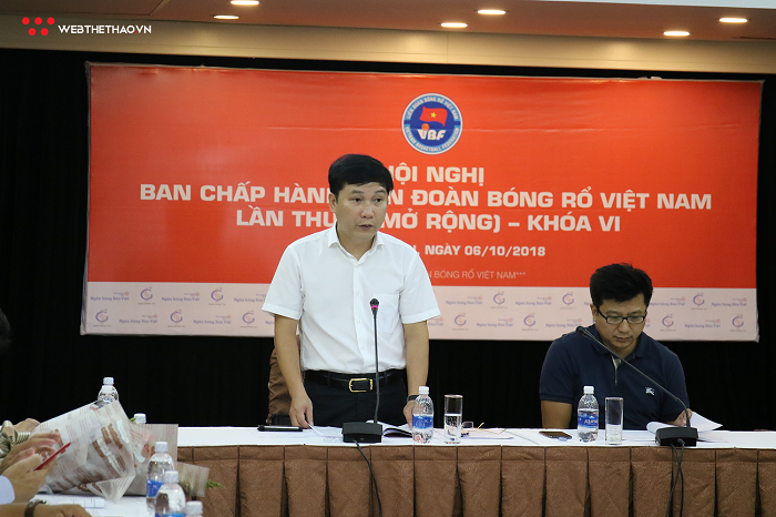 Tổng thư ký Lê Hoàng Anh: Liên đoàn sẽ hỗ trợ tối đa cho bóng rổ
