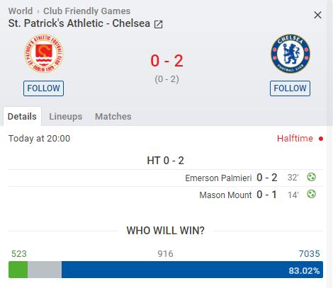 Kết quả St. Patricks vs Chelsea (0-4): 2 bàn mỗi hiệp, Lampard khẳng định sức mạnh
