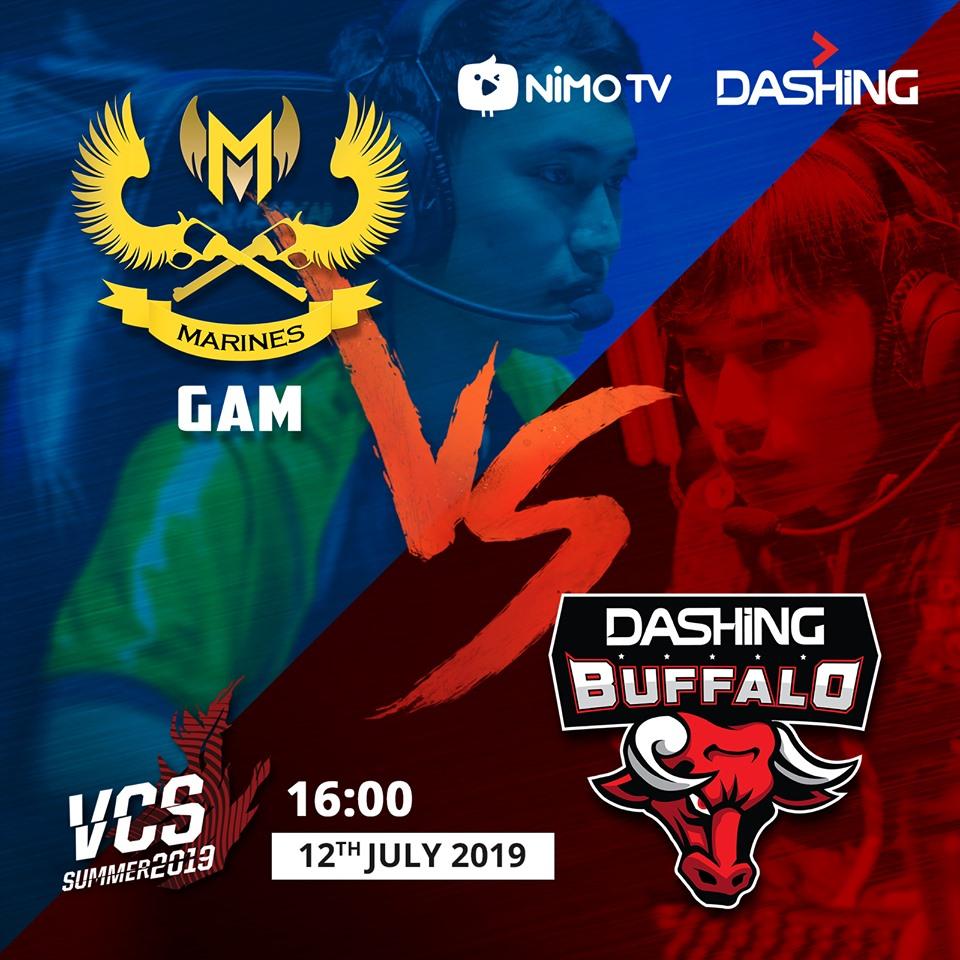 Trực tiếp VCS mùa hè 2019 vòng 5: GAM vs DBL - 16h00 ngày 12/07