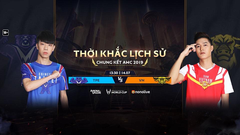 Tin Esports ngày 14/07: Tuyển Việt Nam lọt vào chung kết thế giới Liên Quân Mobile AWC 2019!