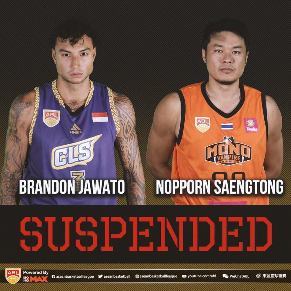 ABL ra án phạt bổ sung dành cho Brandon Jawato và Nopporn Saengtong