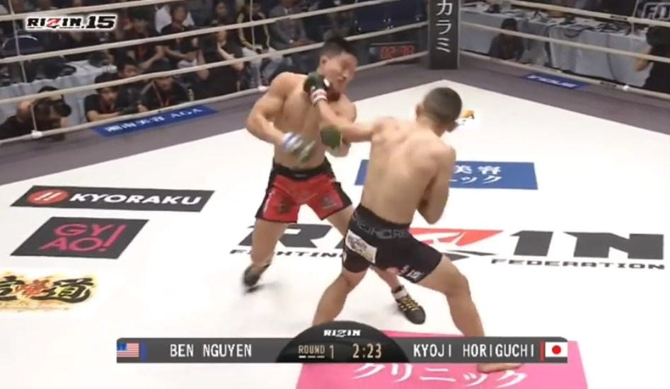 Ben Nguyễn bị hạ knock out tại RIZIN 15 chỉ sau 3 phút