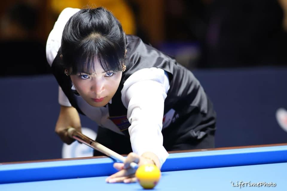 """Vẻ đẹp hút hồn của """"thánh nữ billiards"""" Campuchia tham dự giải vô địch châu Á tại TP.HCM"""
