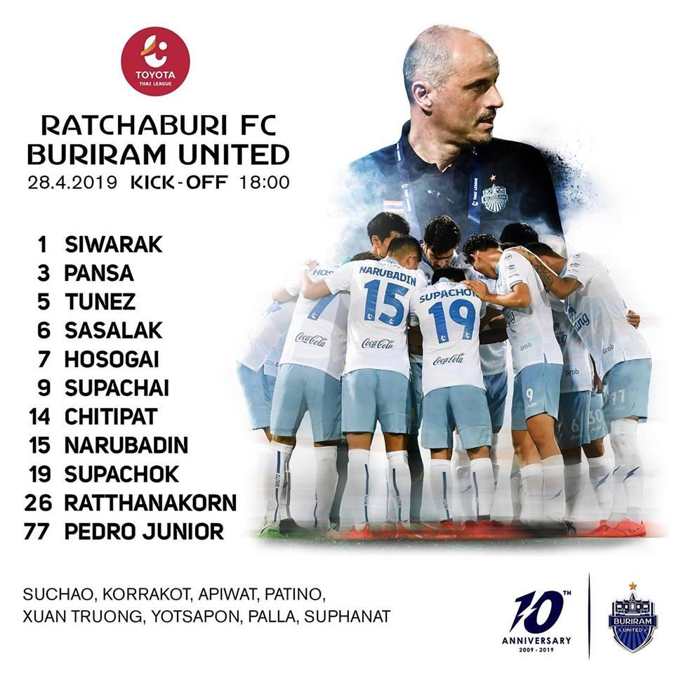 Kết quả Ratchaburi vs Buriram (1-2): Ngược dòng thành công