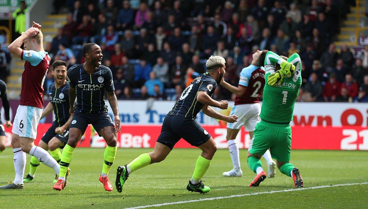 Man City kéo dài mạch thắng, Aguero sánh ngang Henry và điểm nhấn từ trận gặp Burnley