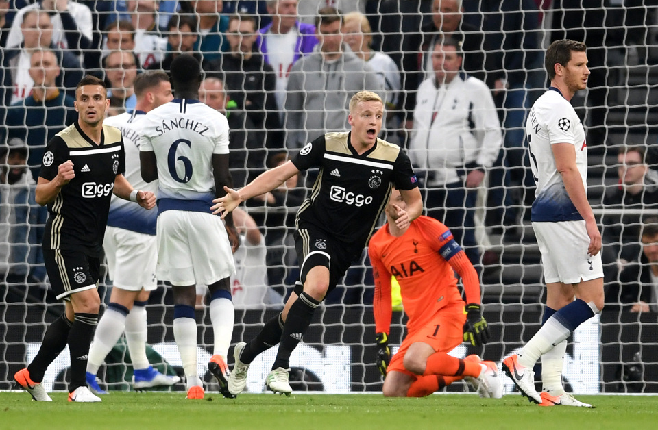 Thống kê cho thấy Ajax là ứng viên vô địch hàng đầu ở Cúp C1