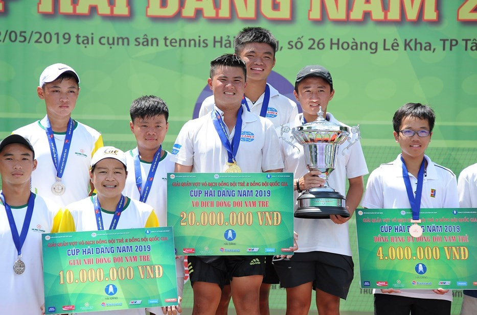 Nam Bình Dương, nữ TP.HCM vô địch Giải tennis Đồng đội trẻ và Đồng đội quốc gia 2019