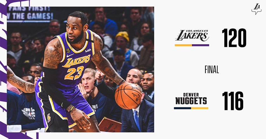LeBron James lập triple-double, Los Angeles Lakers thắng nghẹt thở Denver trong hiệp phụ