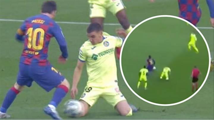 Messi khiến cầu thủ Getafe quỳ gối bằng kỹ năng siêu phàm
